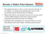 become a maker faire sponsor