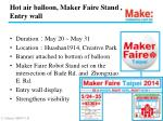 hot air balloon maker faire stand entry wall