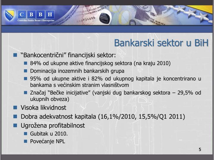 Bankarski sektor u BiH