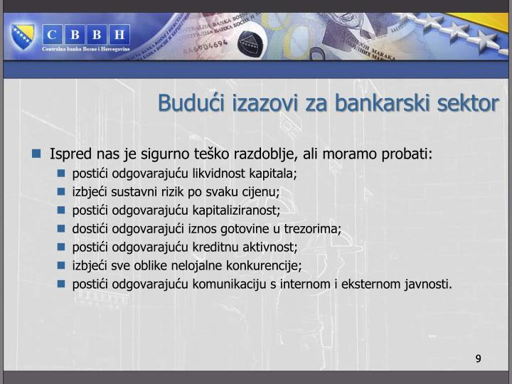 Budući izazovi za bankarski sektor