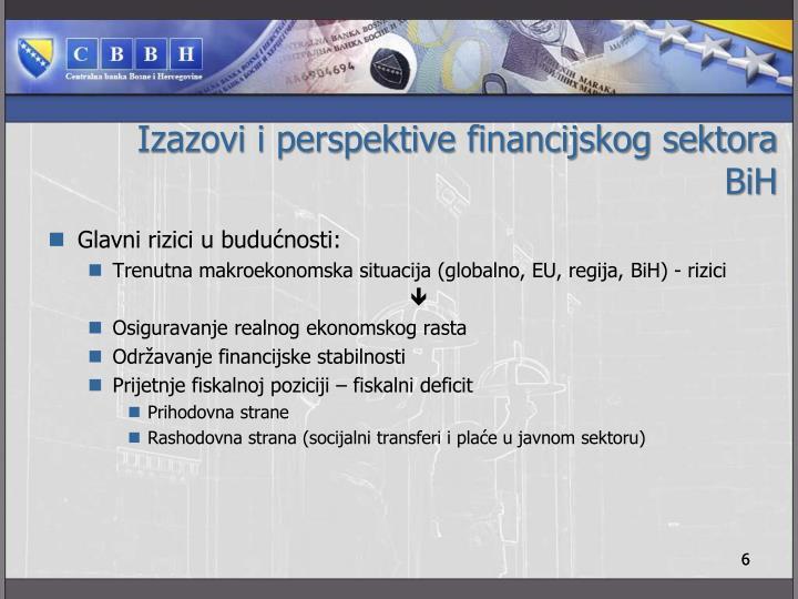 Izazovi i perspektive financijskog sektora BiH