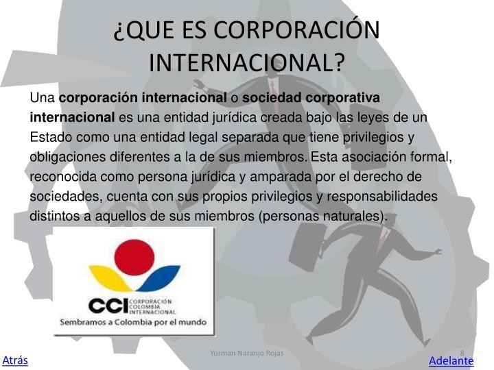 ¿QUE ES CORPORACIÓN INTERNACIONAL?