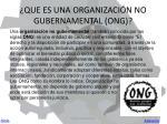 que es una organizaci n no gubernamental ong
