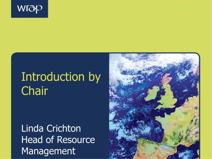 Introduction by Chair