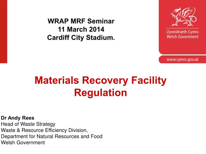 WRAP MRF Seminar
