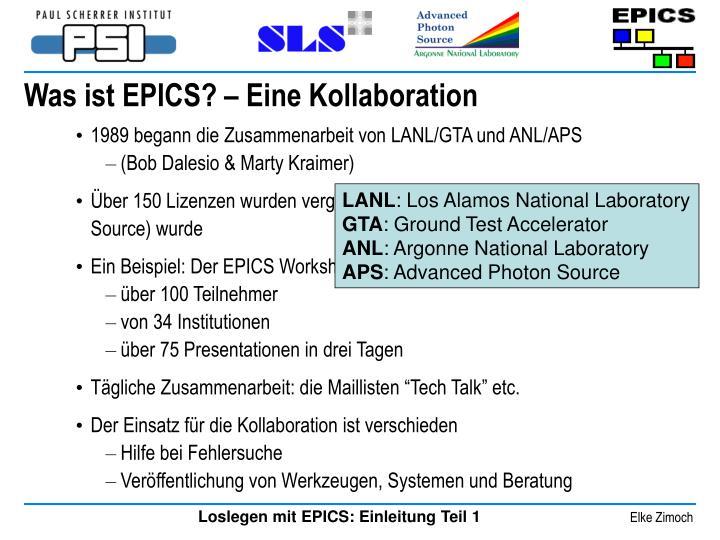1989 begann die Zusammenarbeit von LANL/GTA und ANL/APS
