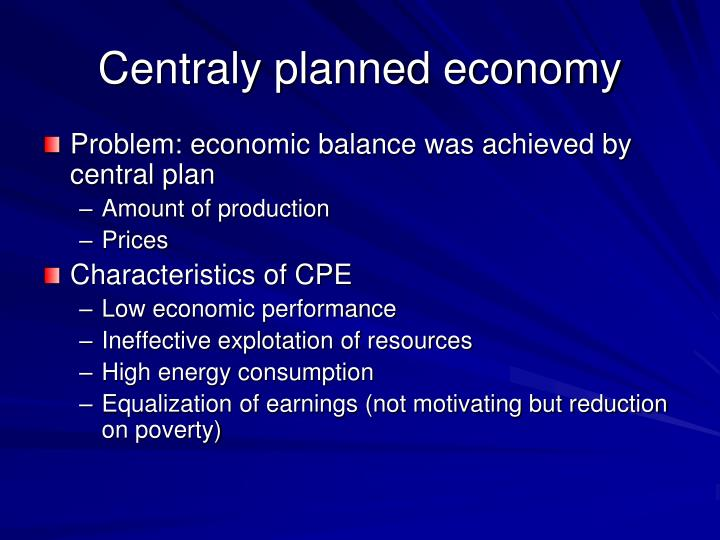 Centraly planned economy