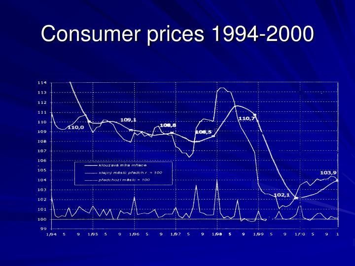 Consumer prices 1994-2000
