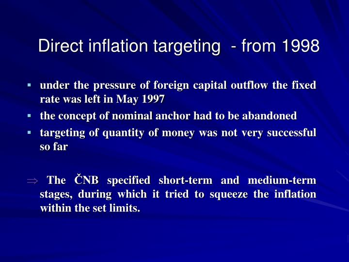 Direct inflation targeting