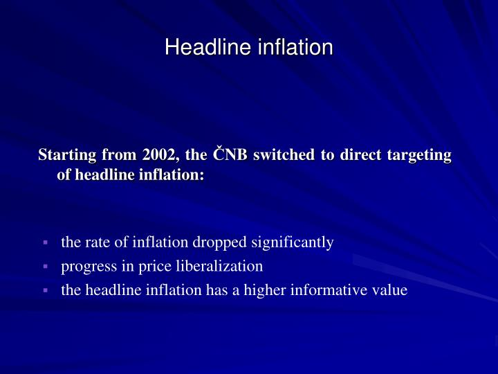 Headline inflation