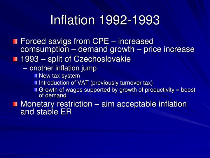 Inflation 1992-1993