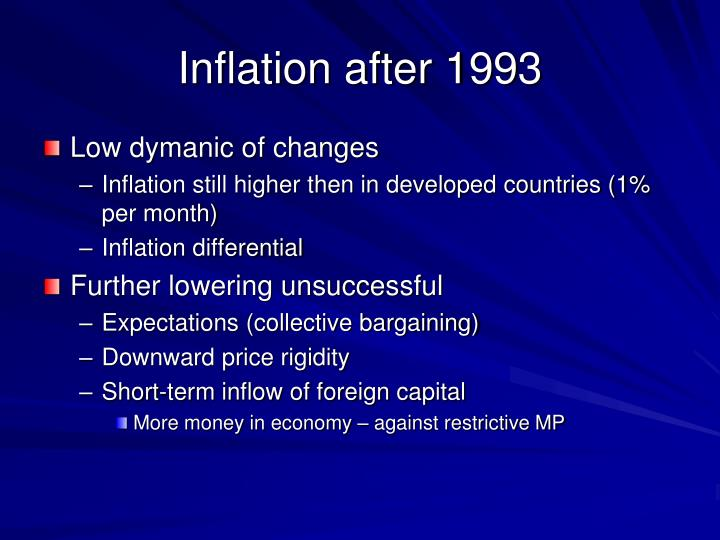 Inflation after 1993