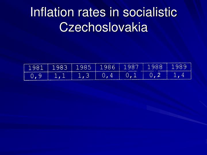 Inflation rates in socialistic Czechoslovakia