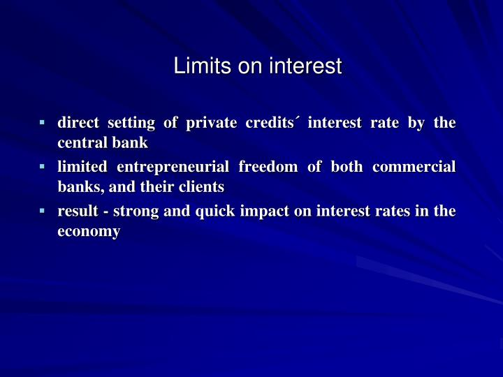 Limits on interest