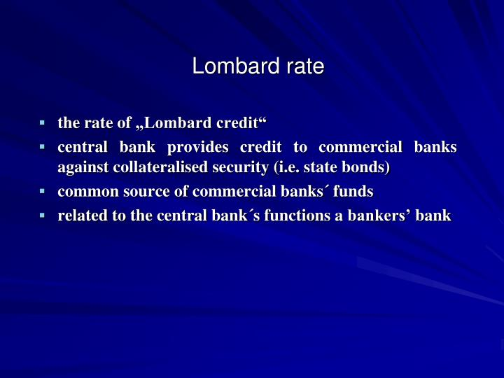 Lombard rate