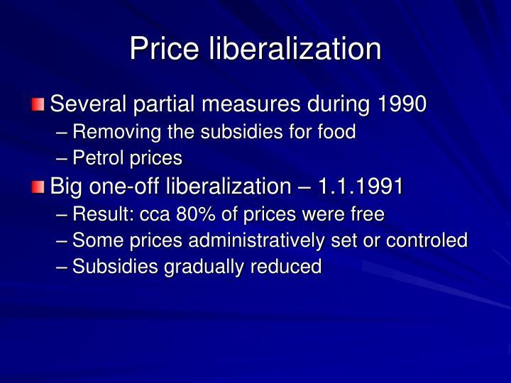 Price liberalization