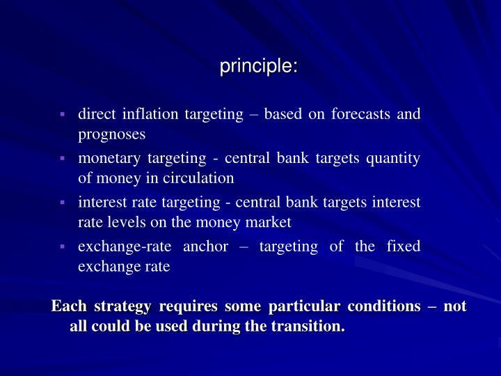 principle: