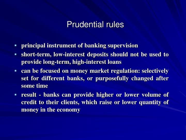 Prudential rules
