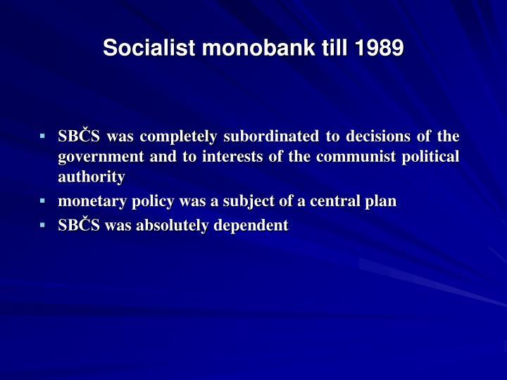 Socialist monobank til