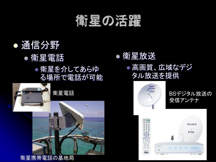 衛星の活躍