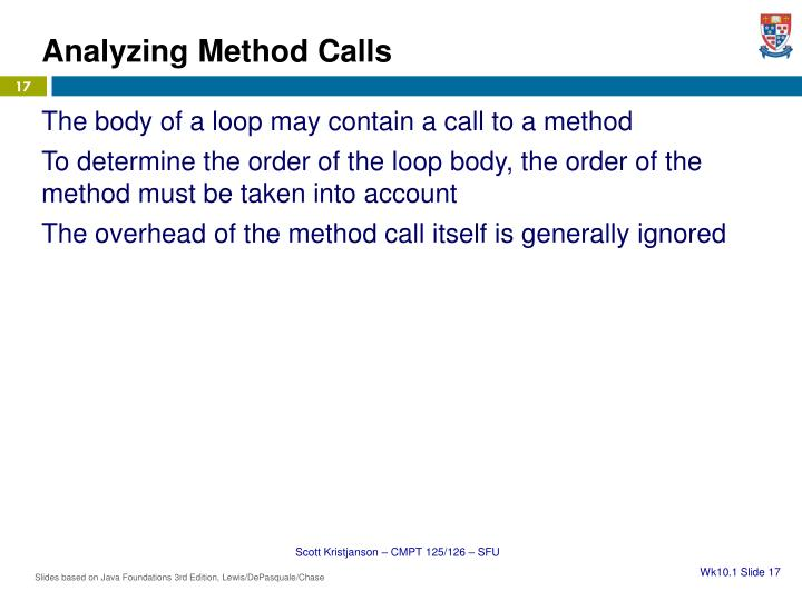 Analyzing Method Calls
