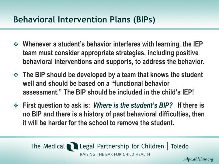 Behavioral Intervention Plans (BIPs)