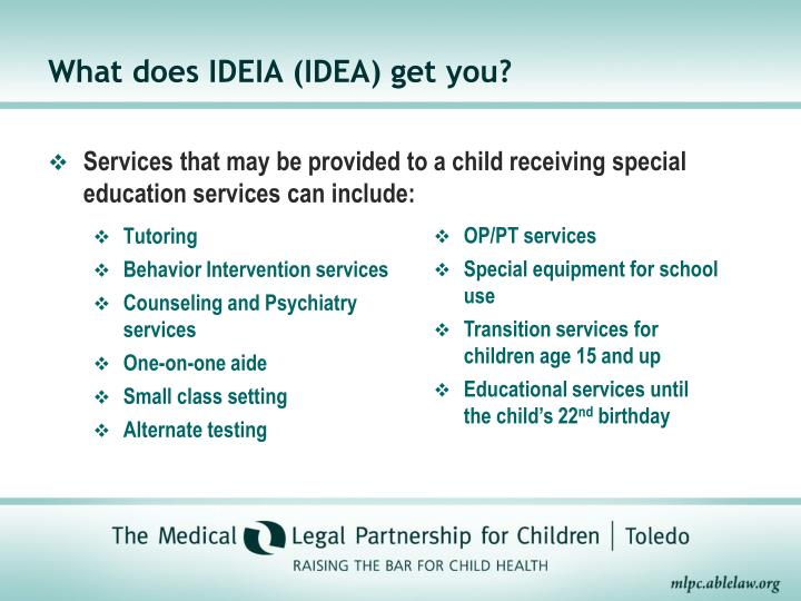 What does IDEIA (IDEA) get you?