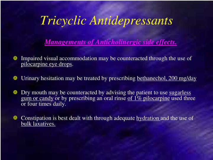 Tricyclic Antidepressants