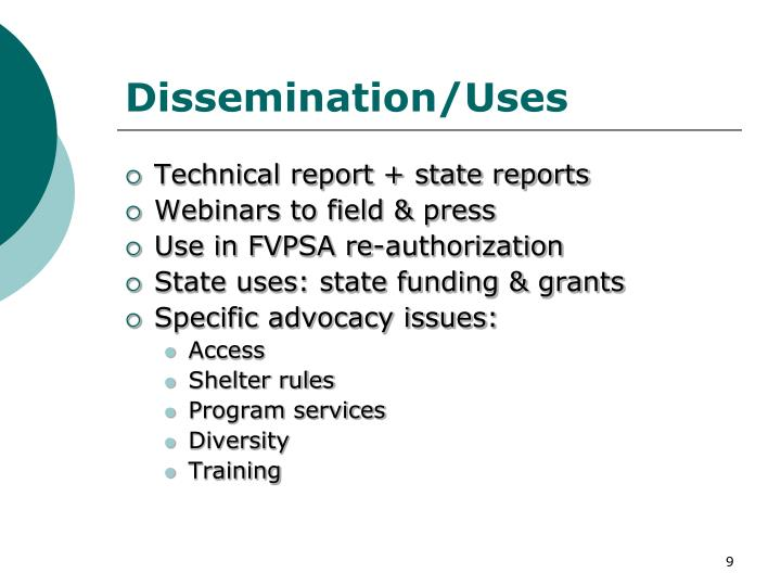 Dissemination/Uses