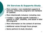 dv services supports study