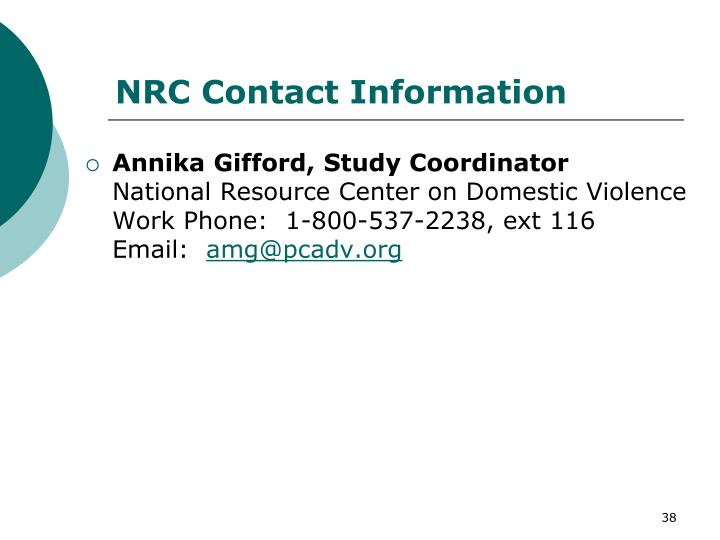 NRC Contact Information