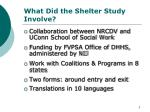 what did the shelter study involve