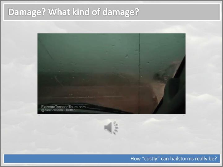 Damage? What kind of damage?