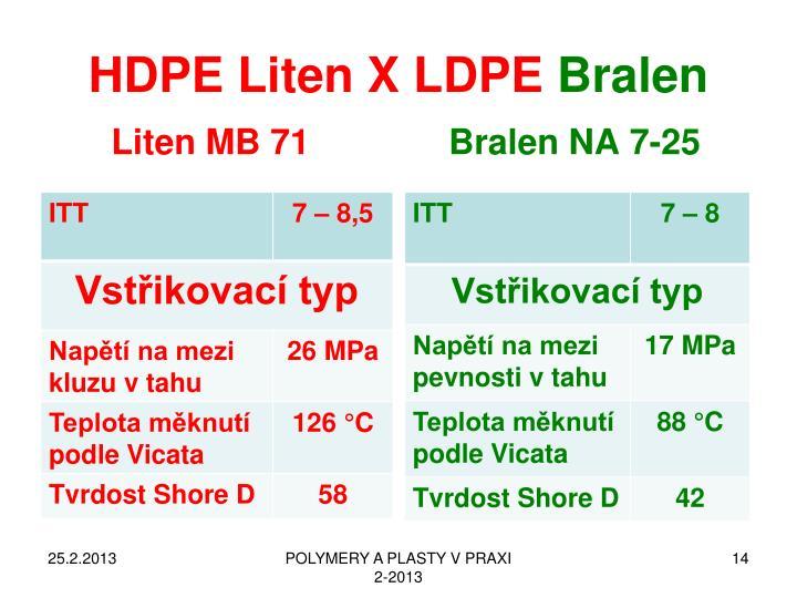 HDPE Liten X LDPE