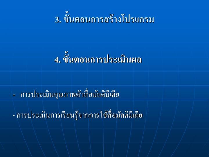 3. ขั้นตอนการสร้างโปรแกรม