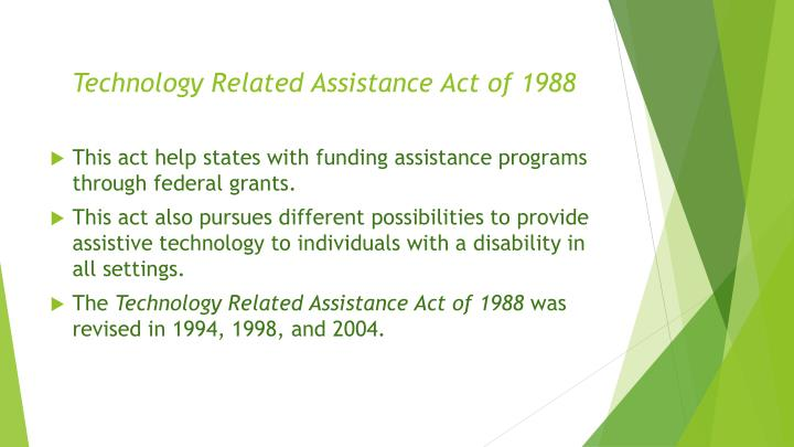 Technology Related Assistance Act of 1988