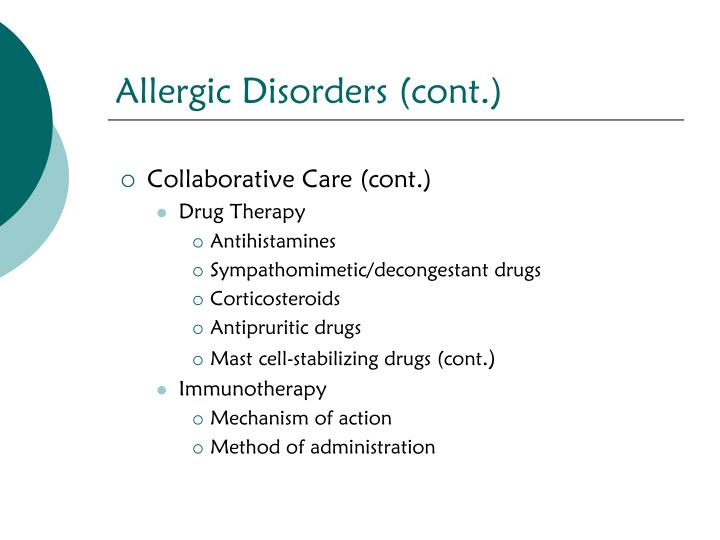 Allergic Disorders (cont.)