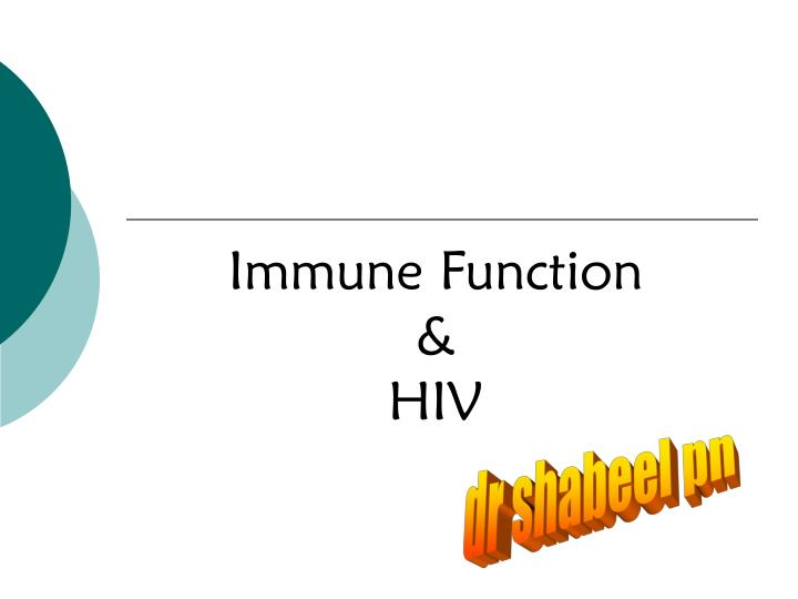 immune function hiv