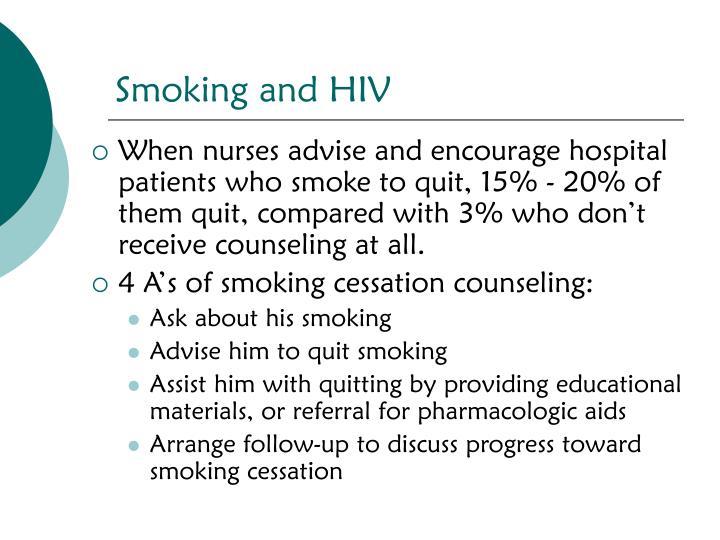 Smoking and HIV