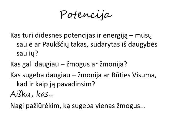 Potencija