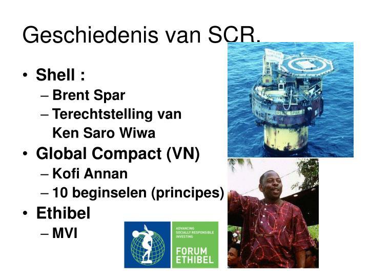 Geschiedenis van SCR.