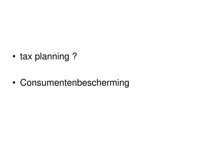 tax planning ?