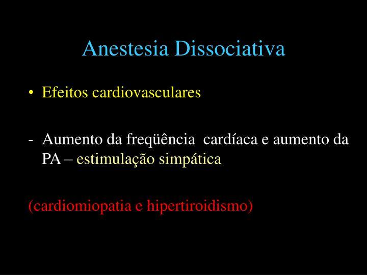 Anestesia Dissociativa