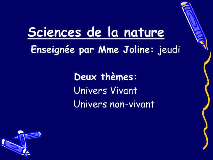 Sciences de la nature