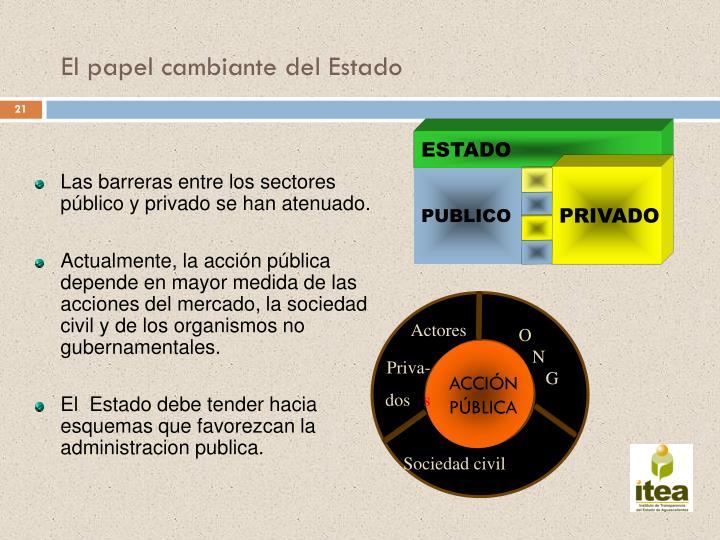 Las barreras entre los sectores público y privado se han atenuado.