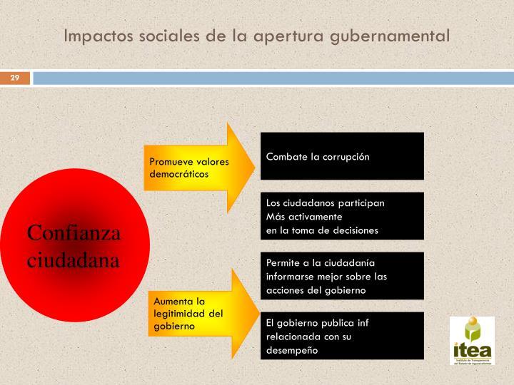Impactos sociales de la apertura gubernamental