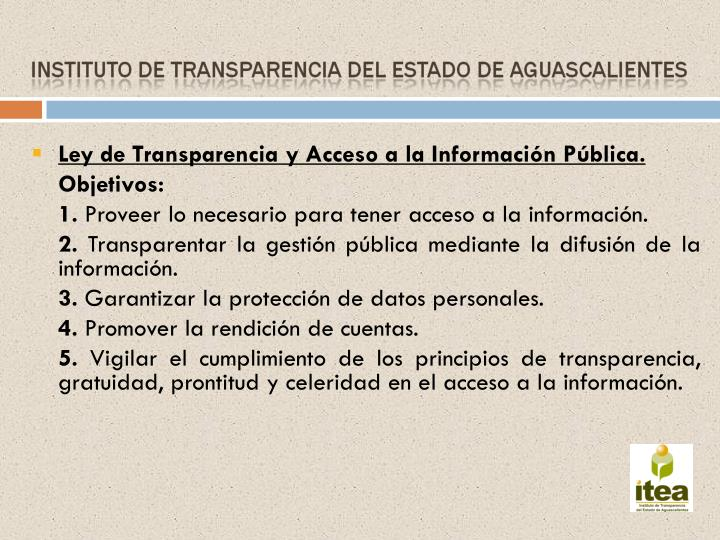 Ley de Transparencia y Acceso a la Información Pública.