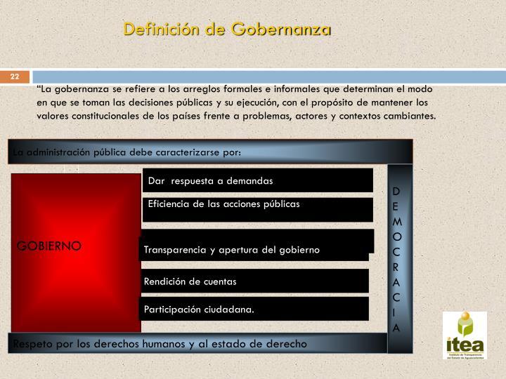 Definición de Gobernanza