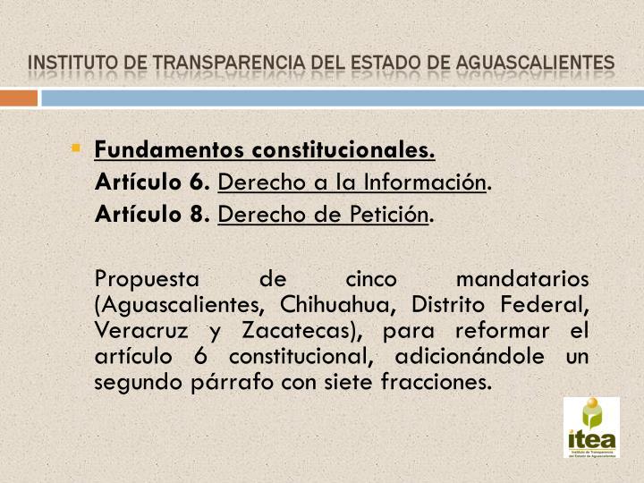 Fundamentos constitucionales.