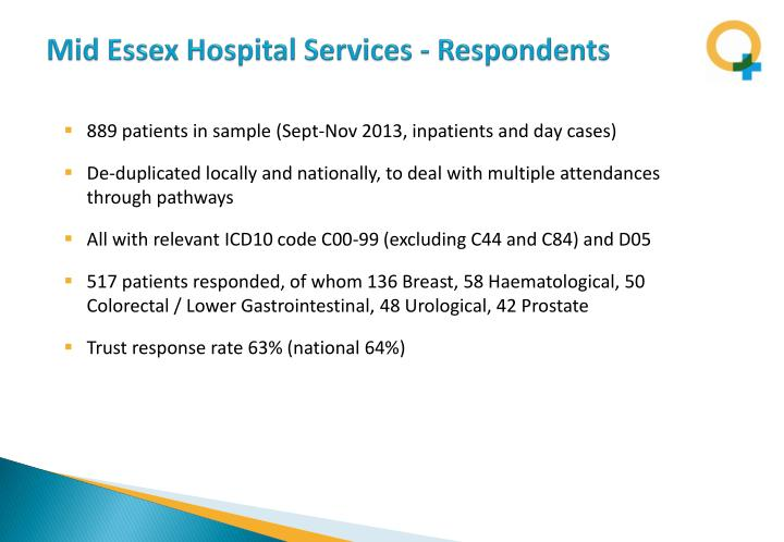 Mid Essex Hospital Services - Respondents